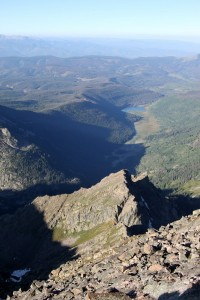 Piney Lake from Peak C's summit