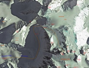 The normal route up Vinson's west side