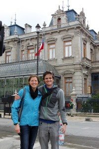 Kristine & I in Punta Arenas near the main square