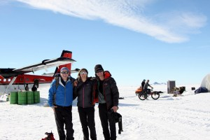 Kev, Kristine, and I about to board the twin otter at Union Glacier