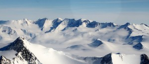 Lower peaks of the Sentinel Range as see on the flight to Vinson