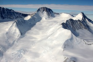 Rocky peaks and large glaciers