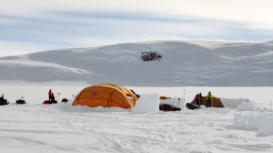 ANI's dome-style cook tent at Low Camp (9,300')