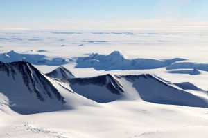 Stunning view of the foothills of the Sentinel Range and the Antarctic Plateau from High Camp