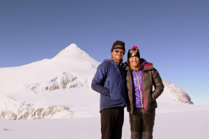 Kristine & I at High Camp with Mt. Shinn behind