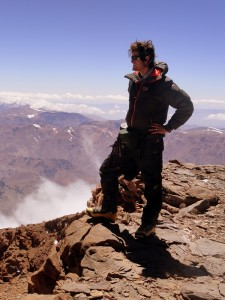 Brandon on Aconcagua's summit for the 2nd time so extremely happy & grateful we persevered to reach the summit