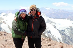 Kristine & I at Camp 2 (19,200') for the first time