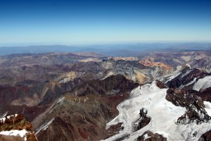 The Andes from just below Aconcagua's summit