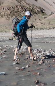 Brandon crossing the Vacas River