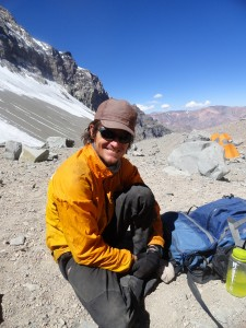 Brandon at Camp 1 and happy to be on the final summit push