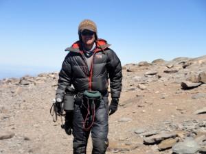 Brandon strolling the summit plateau