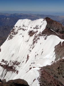 Aconcagua's south summit and south face