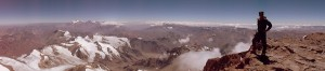 Panorama of Brandon on the summit of Aconcagua