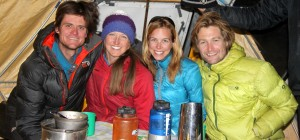 Brandon, me, Marie-Kristelle, & Rob at their base camp dining tent