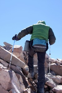 My final steps to Aconcagua's summit