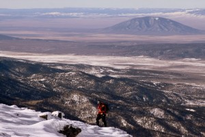 J skinning high above the San Luis Valley