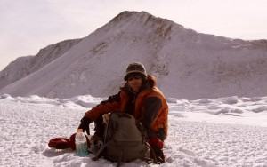 J taking a break on the 13,000' ridge with Culebra's false summit behind