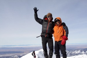 J &amp; I on the summit of Culebra Peak (14,047'). J has now climbed all of Colorado's 14,000' mountains
