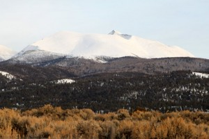 Culebra Peak (14,047') as seen from the San Luis Valley