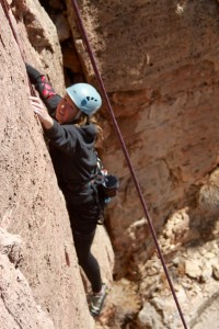 Kristine on another 5.9 route we set up