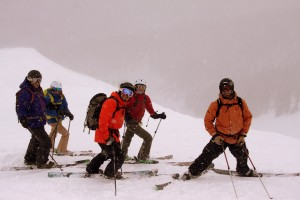 Left to right: Gavin, Kelly, Zac, Kristine, &amp; Jake on our third run