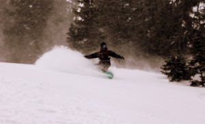 Mikey in the white room on our fourth run