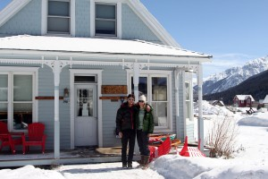 Kristine &amp; I at the White Wolf Haus in Silverton, our awesome lodging for the weekend