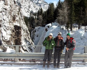 A good few hours at the Ouray Ice Park followed by a good hippy dippin' hour at the Orvis Hot Springs