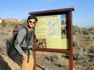 At the Monument Canyon trailhead