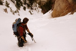 J in the Minturn Couloir