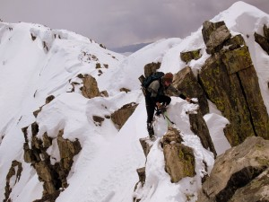 Me on the class 4 crux