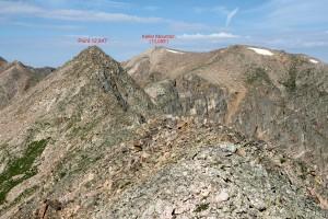 The classic east ridge scramble to Keller's summit