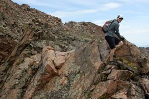 Reid along the fun ridge to Point 12,860'