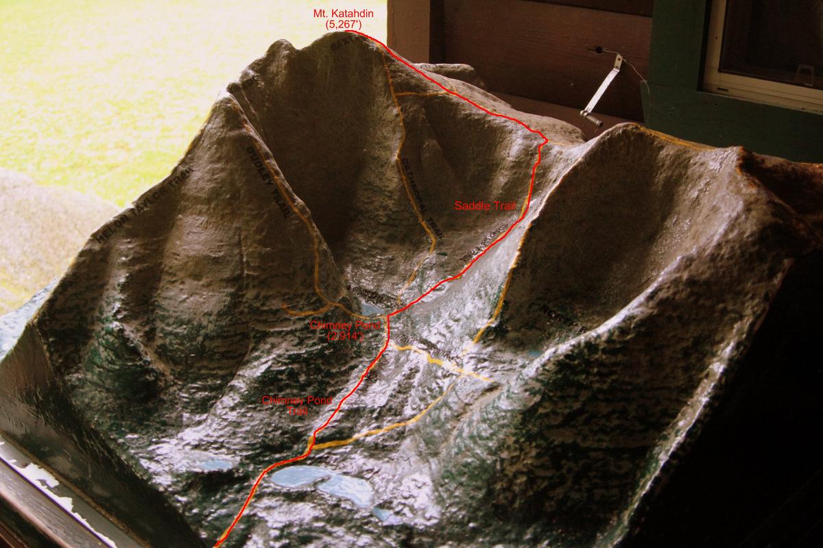 Mt Katahdin Seven Summits - Mt katahdin trail map