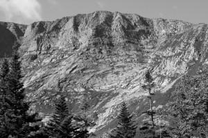 Baxter Peak on Mt. Katahdin from Chimney Pond