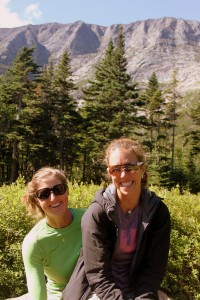 The young gals at Chimney Pond