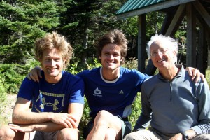 The boys at Chimney Pond