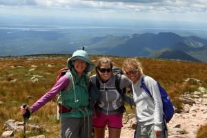 The gals just before Katahdin's summit