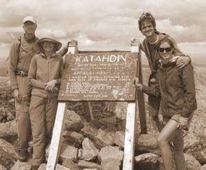 The Oelbergers & Chalks on the summit of Mt. Katahdin