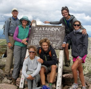 The whole crew on the summit of Mt. Katahdin