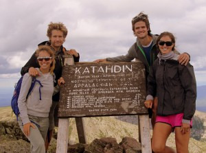Rob, MK, Kristine, & me on the summit of Maine