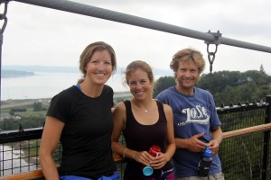 Kristine, MK, & Rob on the suspended bridge
