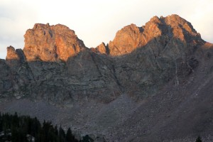 Cancer (right) & Capricorn (left) in the alpenglow