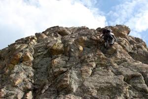 J climbing Taurus' southwest face