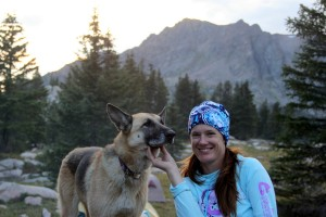 Lauren & Scout at basecamp