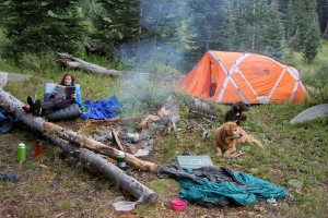 Our little camp at about 10,500' in the Pitkin Creek drainage - who needs a home in Edwards when you can have this?