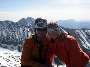 Kristine & I on the summit of Little Bear Peak