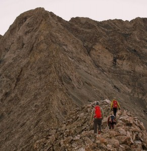 Heading towards the meat & potatoes of the west ridge