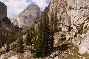 Garnet Canyon with the Middle Teton looming large
