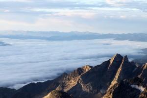 Clouds over Jackson Hole beneath Buck Mountain
